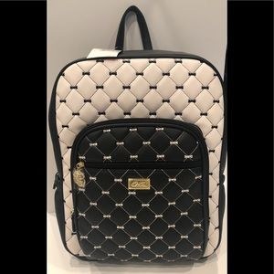 Betsey Johnson Quilted Bows OVERSIZED backpack NWT